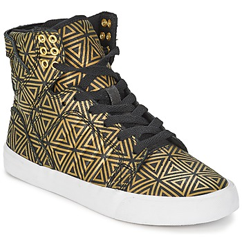 Shoes Women High top trainers Supra SKYTOP GOLD / Black