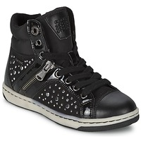 Shoes Girl High top trainers Geox CREAMY C Black