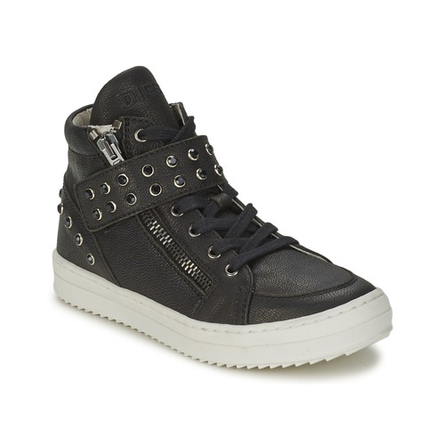 Shoes Girl High top trainers Diesel TREVOR Black
