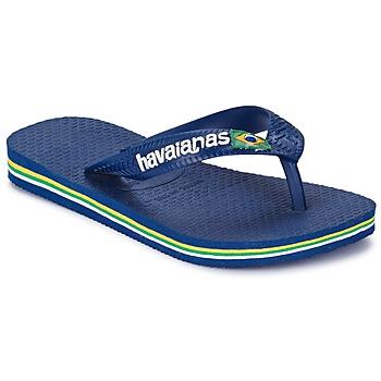 Shoes Boy Flip flops Havaianas BRASIL LOGO Marine