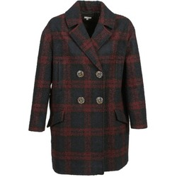 material Women coats Manoush CABAN LAINE Marine / Bordeaux