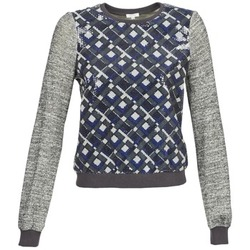 material Women sweaters Manoush MOSAIQUE Grey / Black / Blue