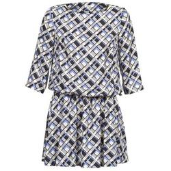 material Women Short Dresses Manoush MOSAIQUE Grey / Black / Parma