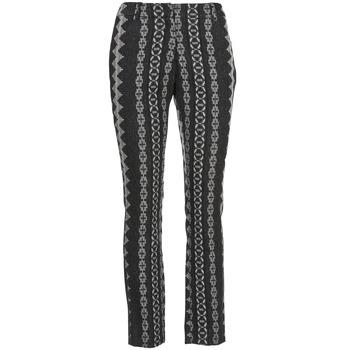 material Women 5-pocket trousers Manoush TAILLEUR Grey / Black