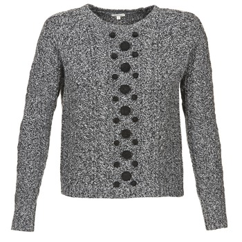 material Women jumpers Manoush TORSADE Grey / Black
