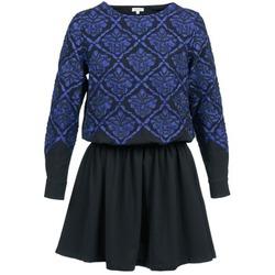 material Women Short Dresses Manoush GIRANDOLINE Black / Blue