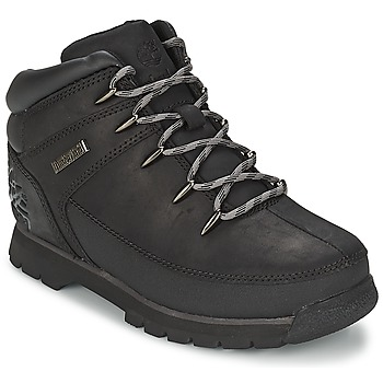 Shoes Children Mid boots Timberland EURO SPRINT Black / Smooth / Grey