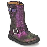 Shoes Girl Boots Pom d'Api HIKE BIKER Violet