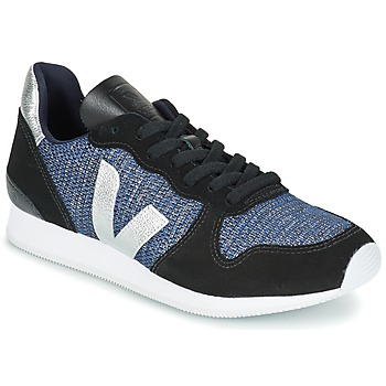 Shoes Women Low top trainers Veja HOLIDAY LOW TOP Black / Blue / Silver