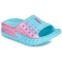 Shoes Women Running shoes Hoka one one W BONDI SLIDE Blue / Pink