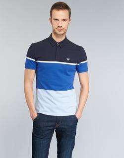 material Men short-sleeved polo shirts Armani jeans MARAFOTA Blue
