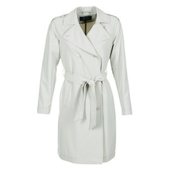 material Women Trench coats Armani jeans HAVANOMA White