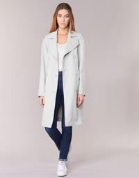 material Women Trench coats Armani jeans HAVANOMA White
