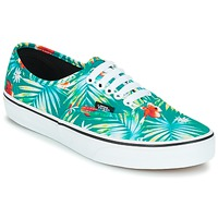 Shoes Low top trainers Vans AUTHENTIC Green / Red