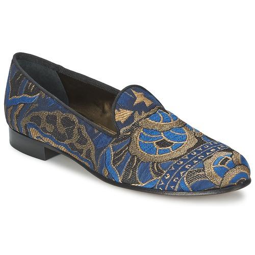Shoes Women Loafers Etro 3046 Black / Blue