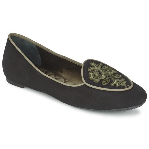 Shoes Women Ballerinas Etro 3059 Black / Kaki