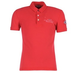 material Men short-sleeved polo shirts Napapijri ELBAS Red