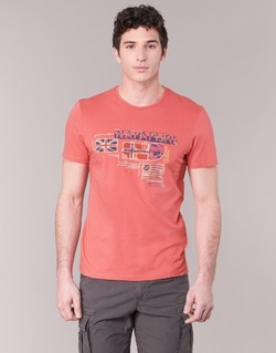 material Men short-sleeved t-shirts Napapijri VINTAGE Coral