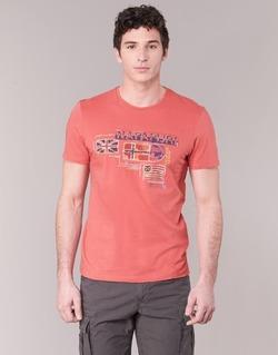 material Men short-sleeved t-shirts Napapijri VINTAGE CORAL
