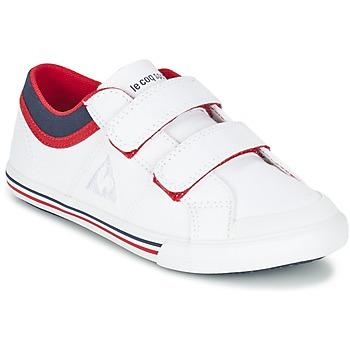 Shoes Boy Low top trainers Le Coq Sportif SAINT GAETAN PS CVS White / Red
