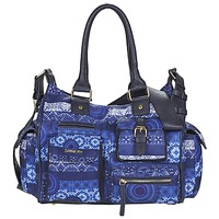 Bags Women Shoulder bags Desigual LONDON MEDIUM BARBADOS Blue