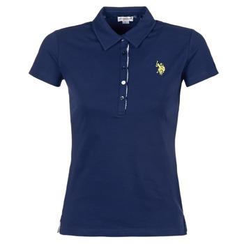 material Women short-sleeved polo shirts U.S Polo Assn. LOGO MARINE