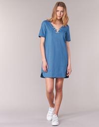 material Women Short Dresses Loreak Mendian TXANGAI Blue