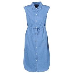 material Women Long Dresses Loreak Mendian BAT ARKANSAS Blue
