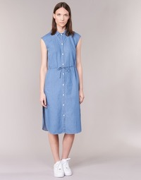 material Women Long Dresses Loreak Mendian BAT ARKANSAS Blue