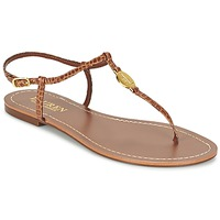 Shoes Women Flip flops Ralph Lauren AIMON SANDALS CASUAL CAMEL
