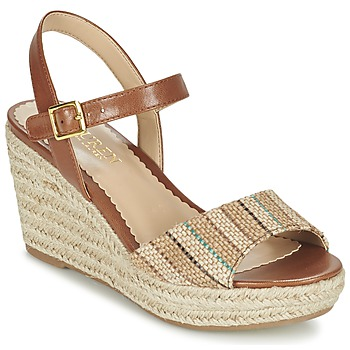 Shoes Women Sandals Ralph Lauren KEARA ESPADRILLES CASUAL Brown / BEIGE
