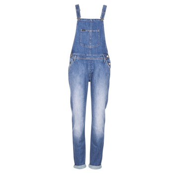 material Women Jumpsuits / Dungarees Lee RELAXED BIB Blue / Clear
