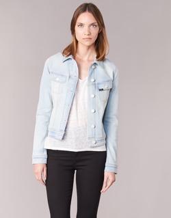 material Women Denim jackets Lee SLIM RIDER Blue / Clear