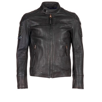 material Men Leather jackets / Imitation le Redskins HAMILTON Black