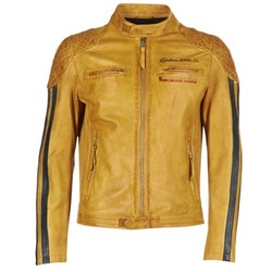 material Men Leather jackets / Imitation le Redskins RIVAS Yellow