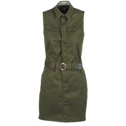 material Women Short Dresses G-Star Raw ROVIC SLIM DRESS S/LESS Kaki