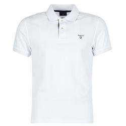 material Men short-sleeved polo shirts Gant CONTRAST COLLAR PIQUE White