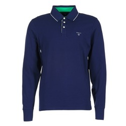 material Men long-sleeved polo shirts Gant 3-COL CONTAST RUGGER Marine