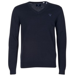 material Men jumpers Gant WEIGHT COTTON V NECK MARINE