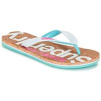 Shoes Women Flip flops Superdry CORK COLOUR POP FLIP FLOP White / Pink / Blue