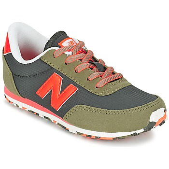 Shoes Children Low top trainers New Balance KL410 Green / Grey / Orange