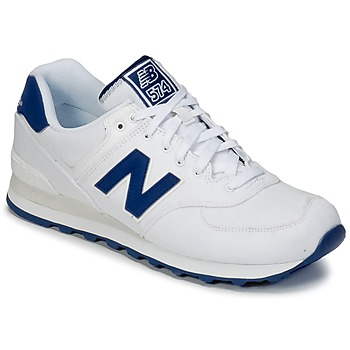 Shoes Low top trainers New Balance ML574 White / Blue