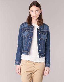 material Women Denim jackets Meltin'pot JUSTINE Blue / Raw