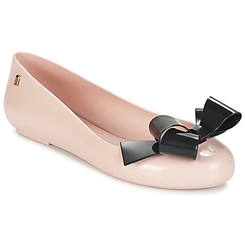 Shoes Women Ballerinas Melissa SPACE LOVE IV Pink / Black