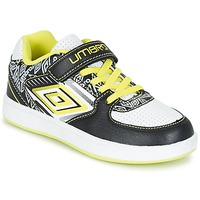 Shoes Boy Low top trainers Umbro COGAN Black / White / Yellow