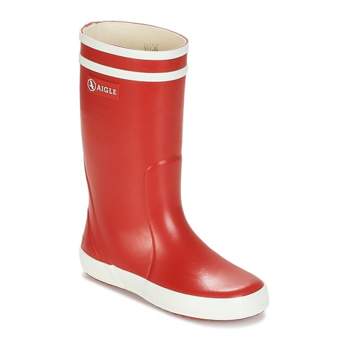 Shoes Children Wellington boots Aigle LOLLY POP Red / White