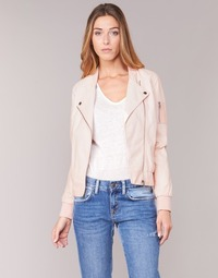 material Women Leather jackets / Imitation le Kaporal ALARE Nude
