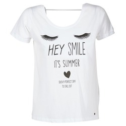material Women short-sleeved t-shirts Kaporal ASMA White