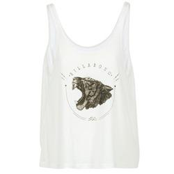 material Women Tops / Sleeveless T-shirts Billabong OPEN TANK Ecru
