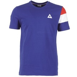 material Men short-sleeved t-shirts Le Coq Sportif BLUREA Blue